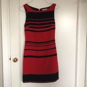 Banana Republic red and dark navy striped dress